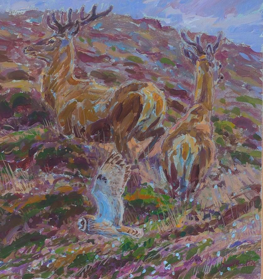往往会根据所要描绘的生物的特点而选择水彩画,彩粉画,丙烯画或油画.