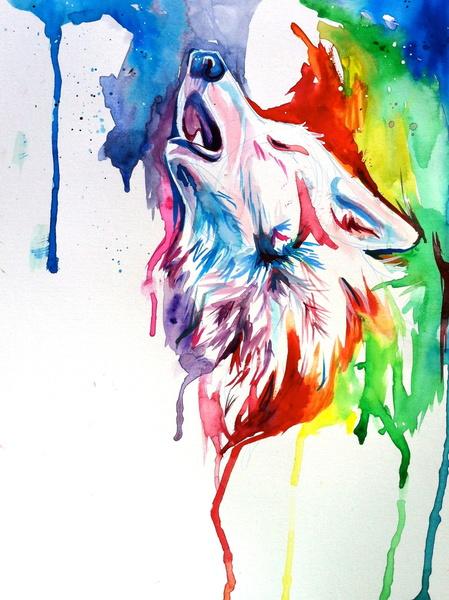 美女画家的彩铅动物都自带仙气